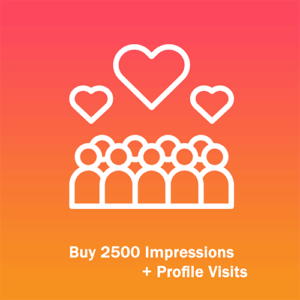 Buy 2500 Impressions + Profile Visits